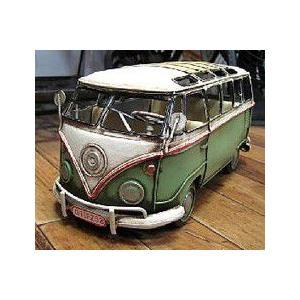ブリキのおもちゃ ワーゲンバス フォルクスワーゲン 自動車 バス|goodsfarm|06