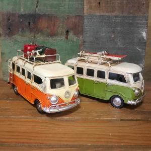 フォルクスワーゲン ミニチュアバス ノスタルジックデコ 自動車 ブリキのおもちゃ