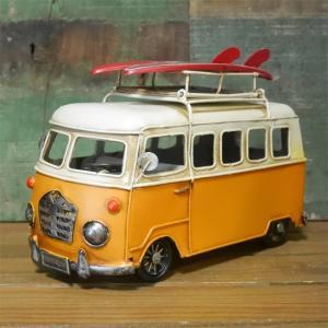 フォトスタンド キャリーカー ブリキのおもちゃ ワーゲンバス インテリア carrier car|goodsfarm