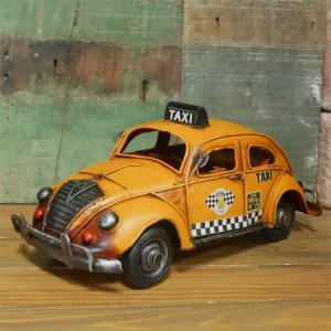 ビートルタクシー イエローキャブ ブリキのおもちゃ フォルクスワーゲン インテリア taxi|goodsfarm