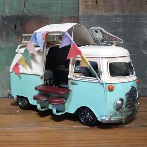 キッチンバスカフェ 自動車 インテリア ワーゲンバス タイプ ブリキのおもちゃ