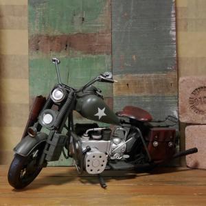 ブリキのおもちゃ バイク ハーレーダビッドソン モデル オートバイ ハーレーアーミー goodsfarm