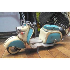 ブリキのおもちゃ スクーター べスパ バイク ツートン goodsfarm