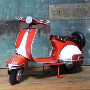 ブリキのおもちゃ BIGスクーター ノスタルジックデコ バイク レッド goodsfarm