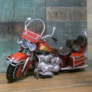 ブリキのおもちゃ レトロバイク レッド インテリア オートバイ