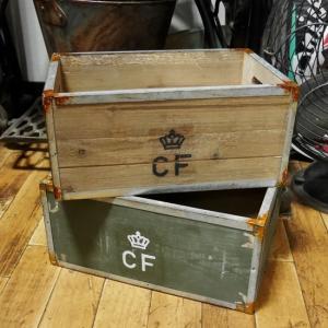 デンマーク軍タイプ ストレージ ウッドボックス 収納木箱|goodsfarm