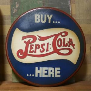 ペプシコーラ 木製看板 PEPSI COLA レトロ アンティーク アメリカン雑貨|goodsfarm