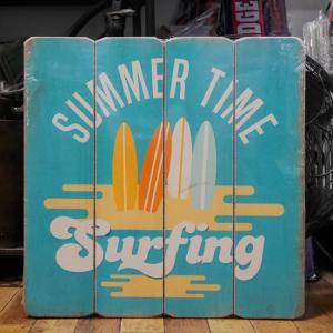 ウッドボード ハワイアン インテリア 木製看板 Summer Time|goodsfarm