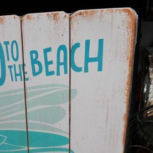ウッドボード ハワイアン インテリア 木製看板 Go to the Beach|goodsfarm|03