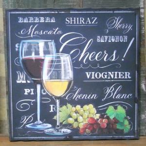 アンティーク風 ウッドボード wine インテリア 木製看板 ワイン|goodsfarm