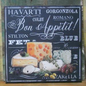 アンティーク風 ウッドボード cheese インテリア 木製看板 チーズ|goodsfarm
