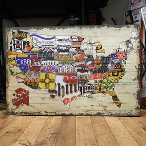 木製看板 ウッドボード ビアメーカー アメリカ州|goodsfarm