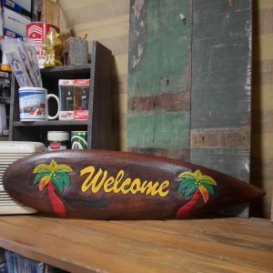 ビーチウォールサイン SURF WELCOME ハワイアン インテリア 木製看板|goodsfarm