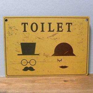 インフォメーション ミニサインボード トイレ 木製看板 案内板|goodsfarm