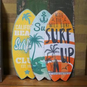 サーフボード ハワイアン インテリア スタンド&ウォールプレート 木製看板|goodsfarm