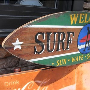 サーフボード デザインボード ハワイアンインテリア 木製看板|goodsfarm|04