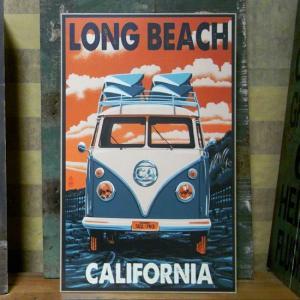 ウエストコーストウッドプラーク カリフォルニア Long Beach インテリア 木製看板|goodsfarm
