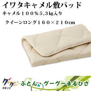 イワタ キャメル敷きパッド レギュラータイプ QL 160×210cm/5,3kg|goodsingu