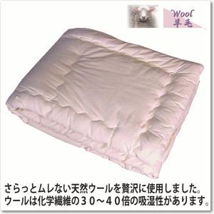 ピュアウール肌掛けふとん(セミダブルスーパーロング170×230cm) goodslee