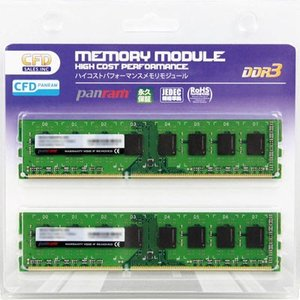 CFD W3U1600PS-8G [DDR3-1600/8GB x2枚] デスクトップ用メモリ 240pin DIMM 2枚組動作確認済セット|goodwill