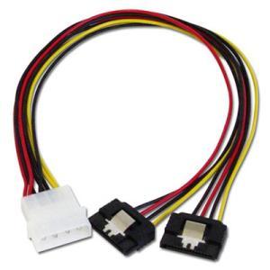 アイネックス D2-1505SBA ラッチ付 二股電源変換ケーブル 30cm ラッチ付きでケーブルをしっかり固定できます|goodwill