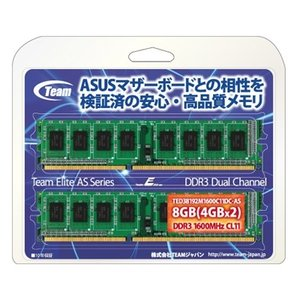 Team ELITE AS DDR3 1600MHz 8GB(4GBx2) TED38192M1600C11DC-AS|goodwill