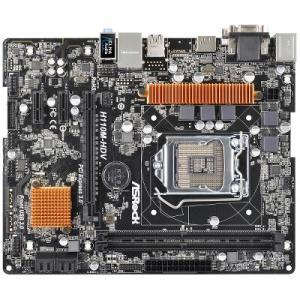 ASRock H110M-HDV H110チップセット搭載Micro ATXマザーボード ギガビットLANや3系統の映像出力サポート|goodwill