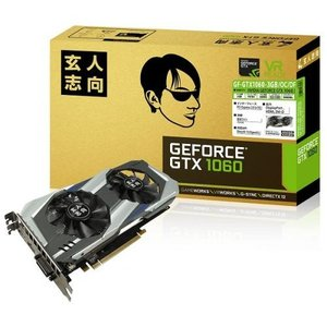 玄人志向 GF-GTX1060-3GB/OC/DF 3GBメモリ版 GeForce GTX 1060搭載グラフィックボード goodwill