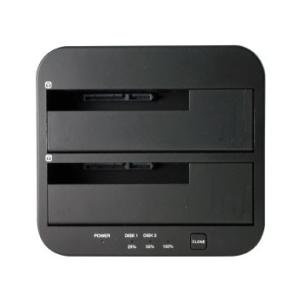AOTECH AOK-CLONE-U3 エラースキップ機能搭載クローン 2BAY SATA SSD/HDD スタンド UASPモード/ECOモード|goodwill