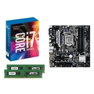 [お買い得3点セット]Intel Core i7 7700K+DDR4-2400 8GB×2枚+ASUS PRIME Z270M-PLUS 3点セット goodwill