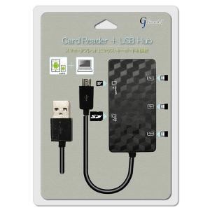 リーダーテクノメディア G-OCR SDカードリーダー+3ポートUSB HUB ブラック|goodwill