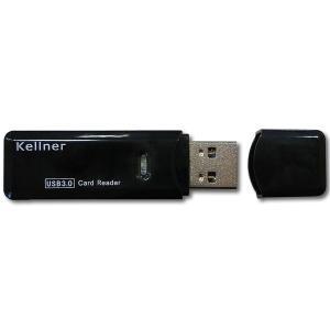 リーダーテクノメディア KE-CRS3 Kellner USB3.0カードリーダー スティックタイプ|goodwill