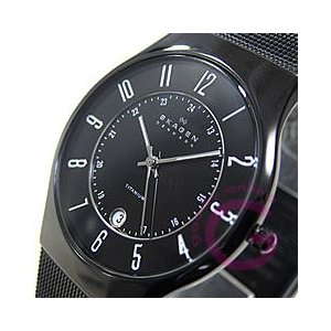 SKAGEN(スカーゲン) 233XLTMB ウルトラスリム チタン メッシュ ブラック メンズウォッチ 腕時計 goody-online