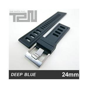 【24MM/22MM 130/75】 DEEP BLUE (ディープブルー) 24-H91BK DIVER 天然ゴム ダイバーラダーズストラップ 替えベルト ブラック 腕時計用 【あすつく】|goody-online