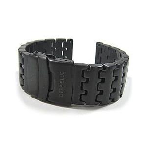 【幅:26MM 全長:185MM】 DEEP BLUE (ディープブルー) 26PVD-LINK 316L サージカルステンレス PVD ダイバーズストラップ 替えベルト 腕時計用|goody-online
