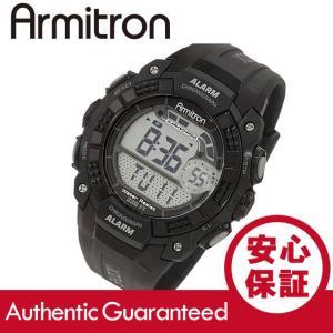 Armitron (アーミトロン) 40-8209BLK デジタル ブラック ラバーベルト メンズウォッチ 腕時計|goody-online