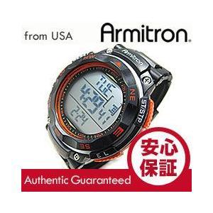 Armitron (アーミトロン) 40-8254ORG デジタル ブラック×オレンジ ラバーベルト メンズウォッチ 腕時計|goody-online