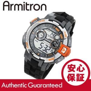 Armitron (アーミトロン) 40-8280ORG デジタル ブラック×オレンジ ラバーベルト メンズウォッチ 腕時計|goody-online