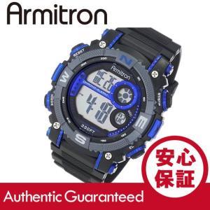 Armitron (アーミトロン) 40-8284BLU デジタル ブラック×ブルー ラバーベルト メンズウォッチ 腕時計|goody-online