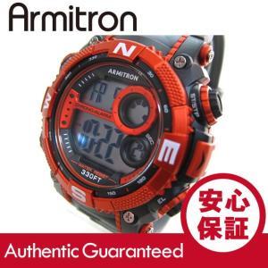 Armitron (アーミトロン) 40-8284CGY デジタル オレンジ カモ ラバーベルト メンズウォッチ 腕時計|goody-online