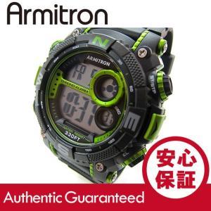 Armitron (アーミトロン) 40-8284LGN デジタル ブラック×ライム ラバーベルト メンズウォッチ 腕時計 【あすつく】|goody-online