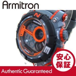 Armitron (アーミトロン) 40-8284ORG デジタル オレンジ×グレー ラバーベルト メンズウォッチ 腕時計 【あすつく】|goody-online