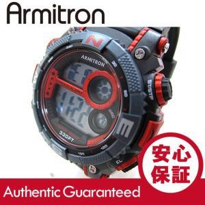 Armitron (アーミトロン) 40-8284RED デジタル ブラック×レッド ラバーベルト メンズウォッチ 腕時計【あすつく】|goody-online