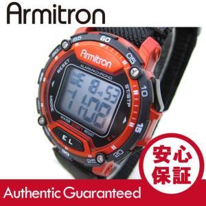 Armitron (アーミトロン) 40-8291RED デジタル ブラック×レッド ナイロンベルト メンズウォッチ 腕時計 【あすつく】|goody-online