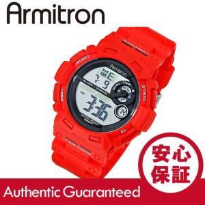 Armitron (アーミトロン) 40-8295RED デジタル レッド ラバーベルト メンズウォッチ 腕時計|goody-online
