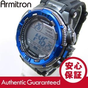 Armitron (アーミトロン) 40-8301BLU デジタル ブラック×ブルー ラバーベルト メンズウォッチ 腕時計 【あすつく】|goody-online