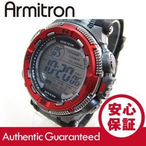 Armitron (アーミトロン) 40-8301RED デジタル ブラック×レッド ラバーベルト メンズウォッチ 腕時計|goody-online