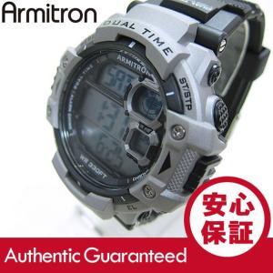 Armitron (アーミトロン) 40-8309GRY デジタル ブラック×シルバー ラバーベルト メンズウォッチ 腕時計 【あすつく】|goody-online