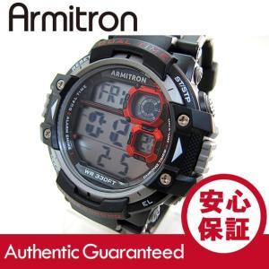 Armitron (アーミトロン) 40-8309RED デジタル ブラック×レッド ラバーベルト メンズウォッチ 腕時計 【あすつく】|goody-online
