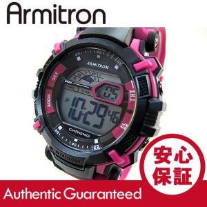Armitron (アーミトロン) 40-8312CPK デジタル ピンク カモ ラバーベルト メンズウォッチ 腕時計 【あすつく】|goody-online